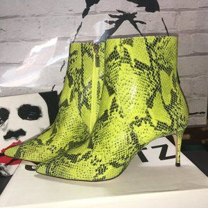 Schutz Shoes Bette Ankle Bootie in Snake Print